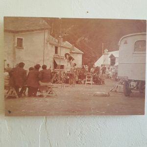 Circus in 1936 on the square in front of pension Les Mélèzes